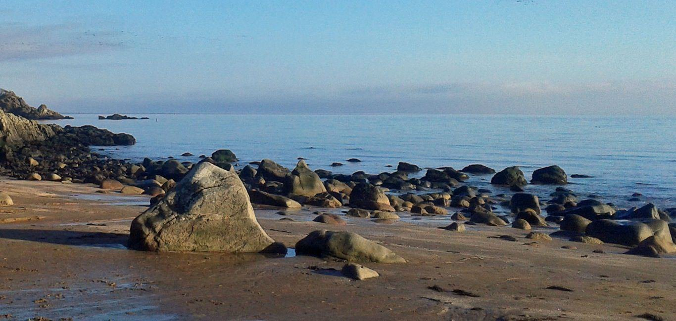 Solway Coast beaches near Kirkennan Estate Holiday Cottages in Dumfries and Galloway