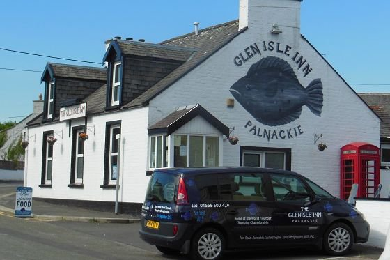The nearest pub to Kirkennan Holiday Cottages is The Glen Isle, Palnackie, Dumfries & Galloway