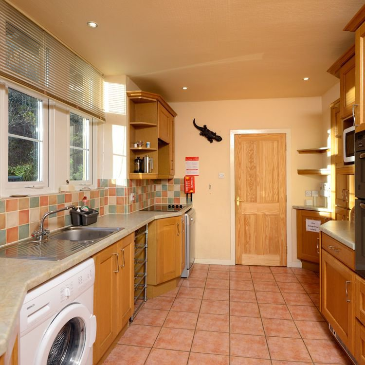 The well equipped kitchen in the Lodge is ideal for guests on self catering holidays