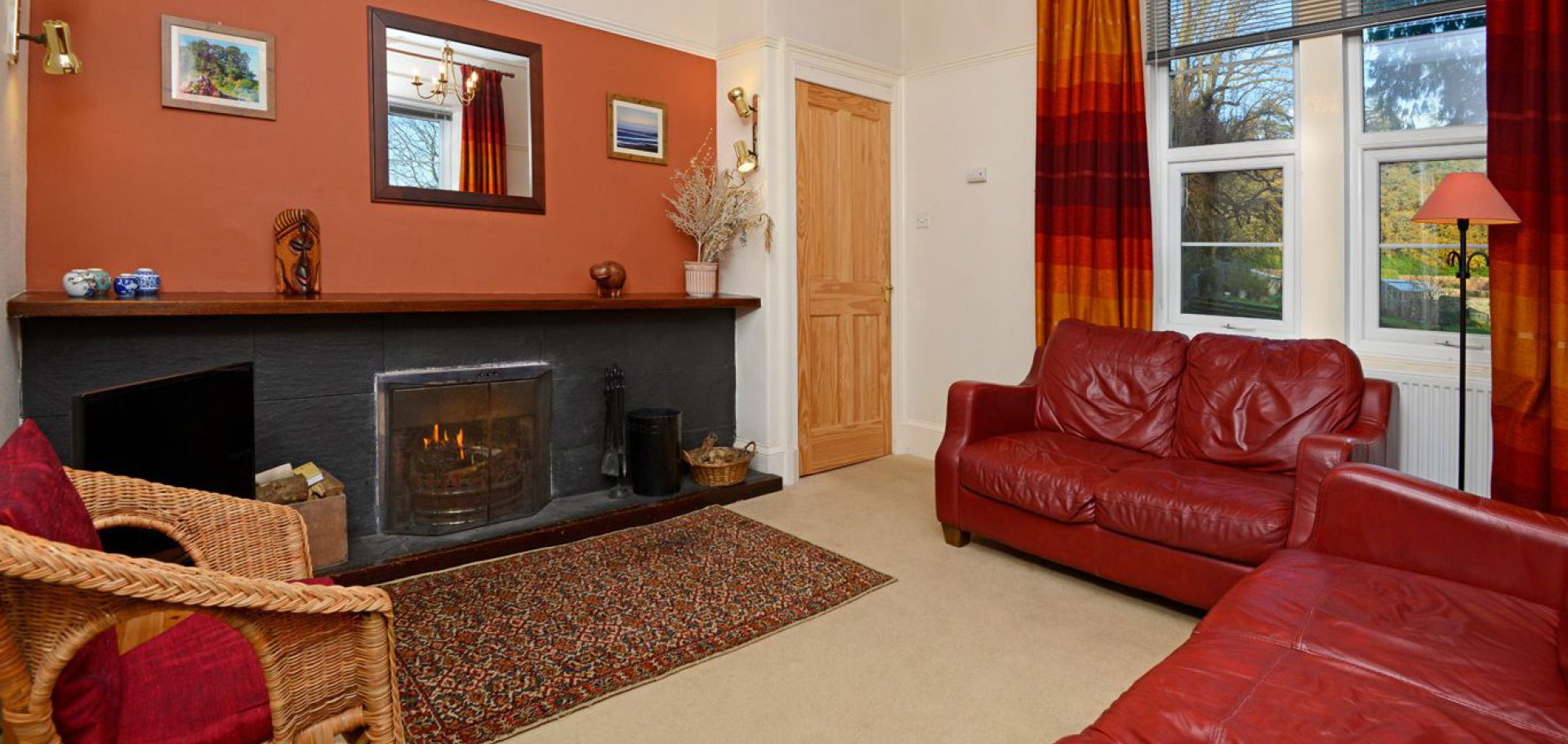 Sitting room at the Lodge self catering holiday accommodation near castle douglas in dumfries and galloway
