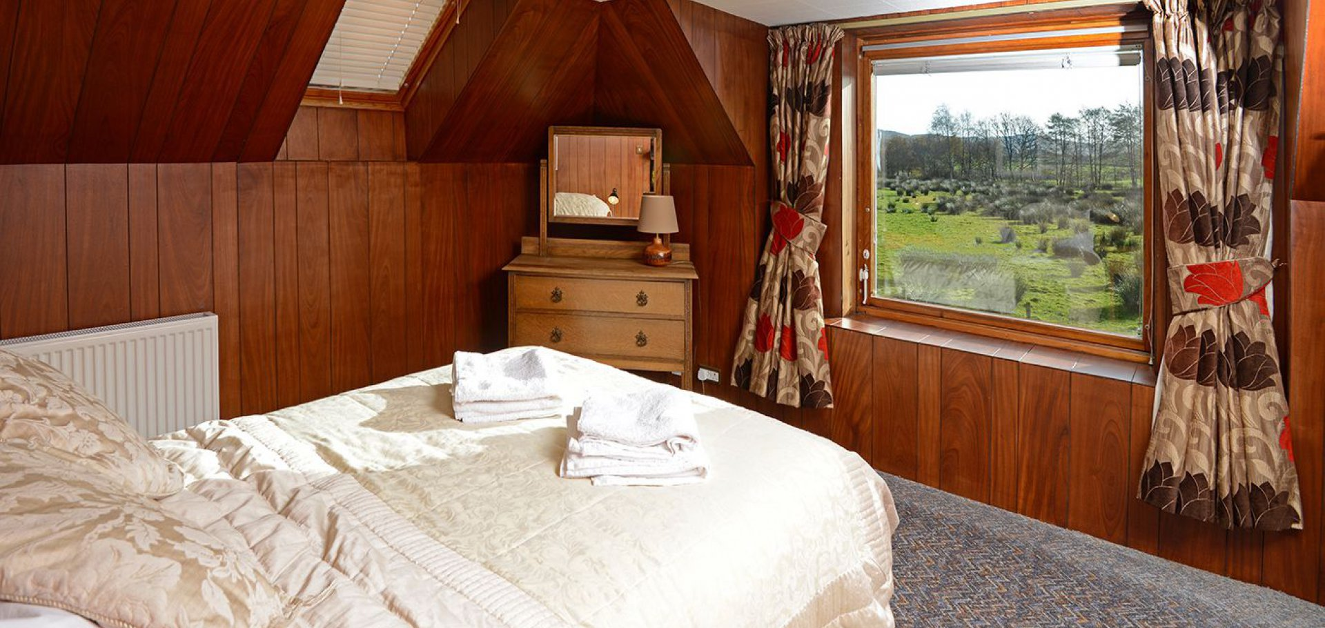 King sized double bedroom at holiday cottage near dalbeattie on the Solway Coast South Scotland