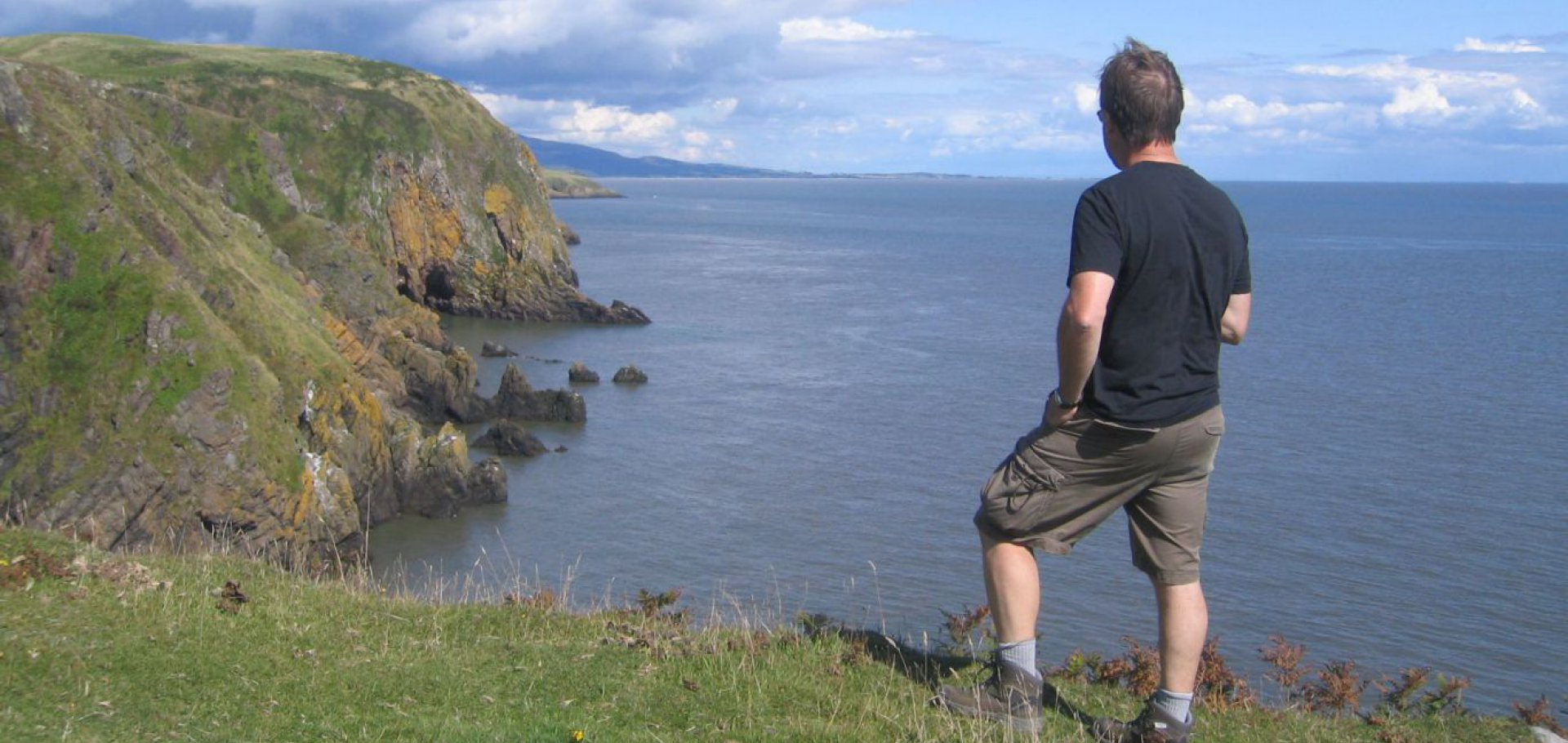 cliff top walk balcary in Dumfries and Galloway