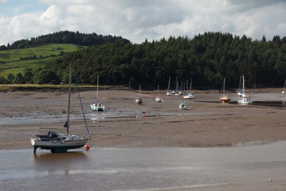 sailing boats at kippford in Dumfries and Galloway