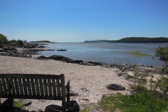 beach near kippford on the Solway Coast