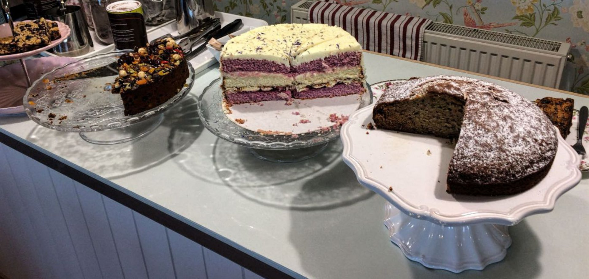 Cakes at the Ark Cafe Kippford Dumfries and Galloway