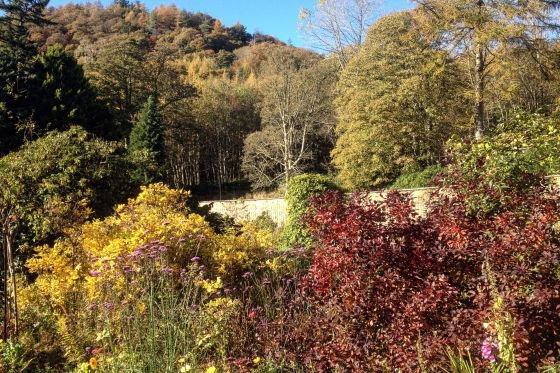 The sheltered walled garden can also be enjoyed in autumn.