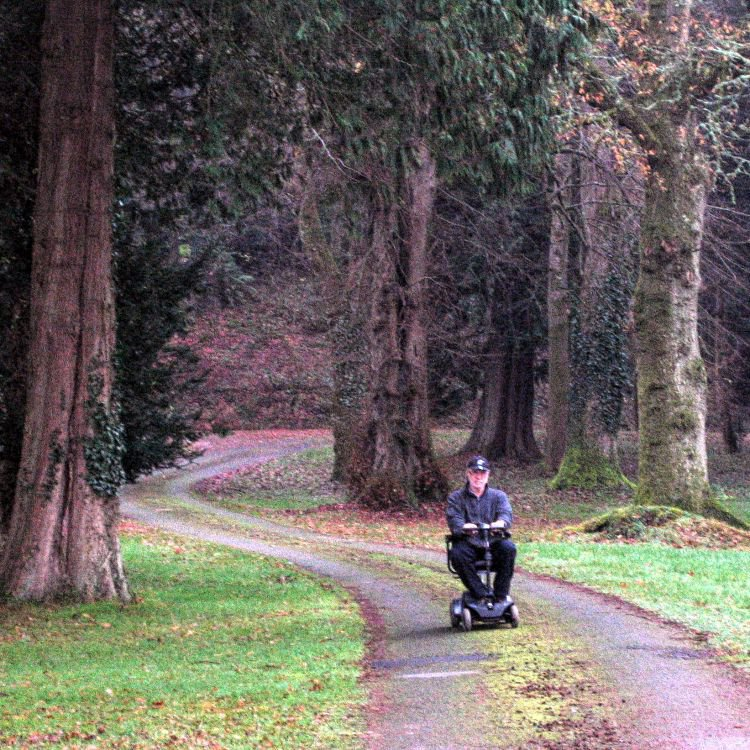You can borrow our mobility scooter to enjoy Kirkennan's landscaped gardens.