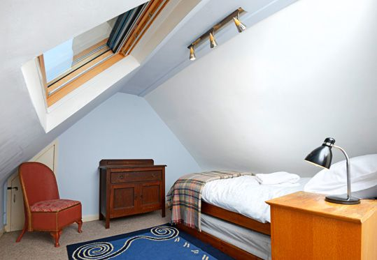 The attic room is normally single, but can have twin beds.