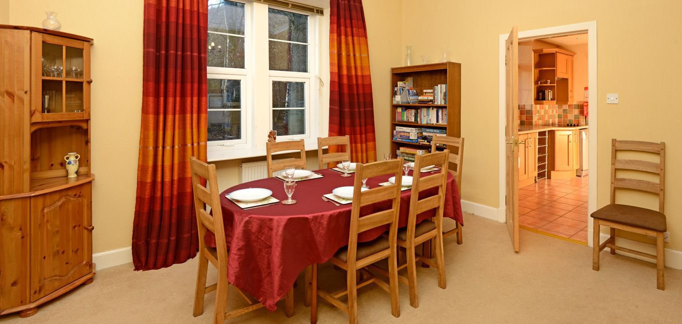 lodge self catering dining room south west scotland
