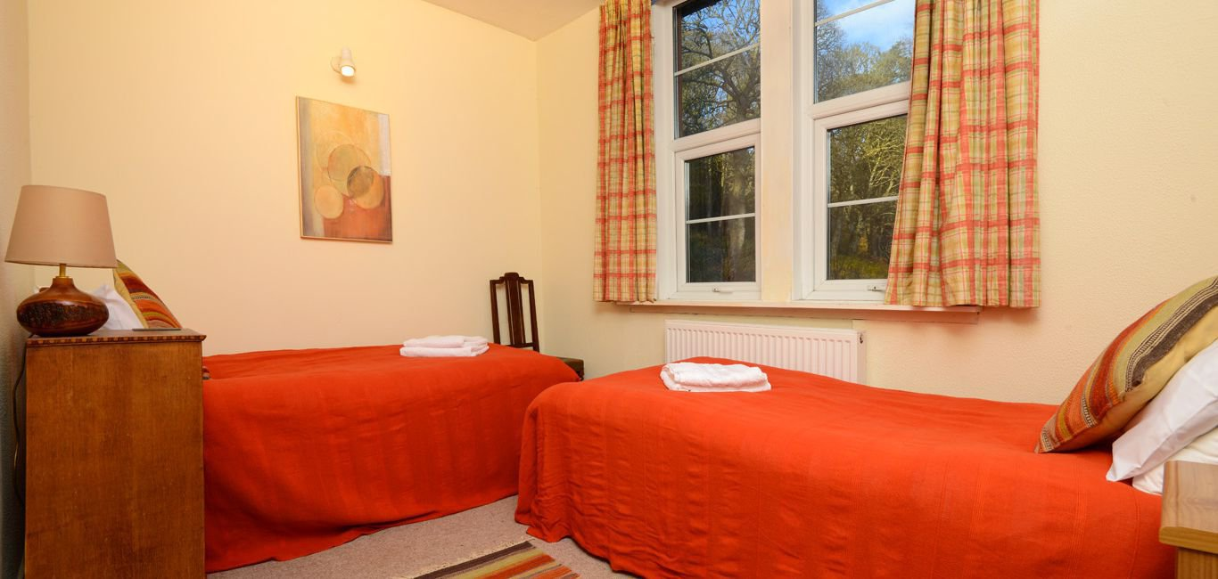 twin bedroom lodge self catering accommodation south west scotland