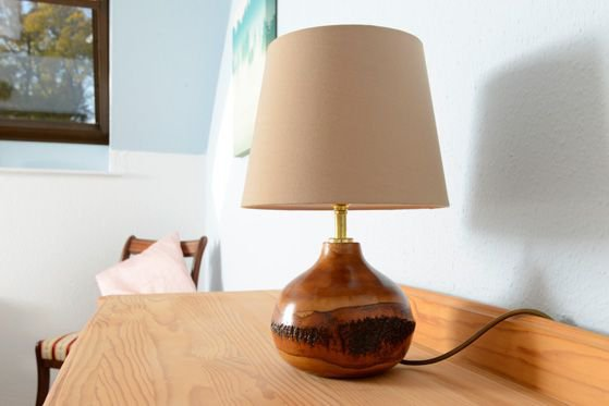The Mews holiday cottage features fair trade lamps made from mango wood.