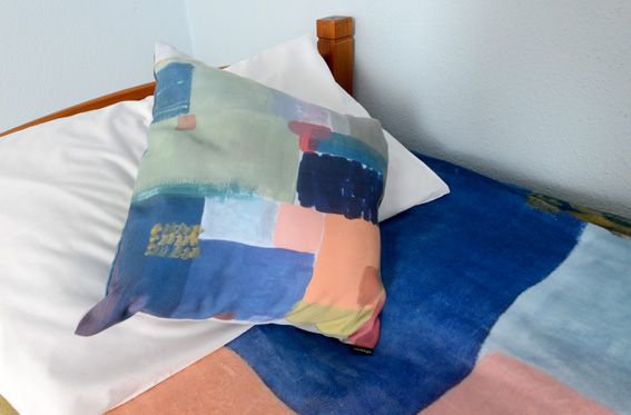 Cushions & covers by local designer Rosie Reid: http://colourrosie.co.uk/