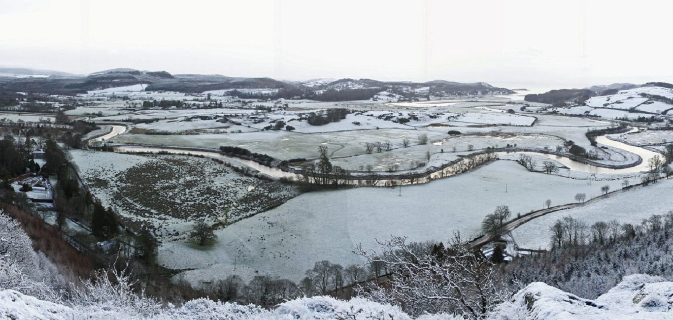 winter holiday accommodation view from ravens craig south west scotland